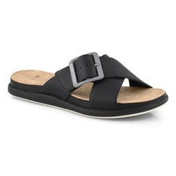 Lds Step June Shell black slip on sandal