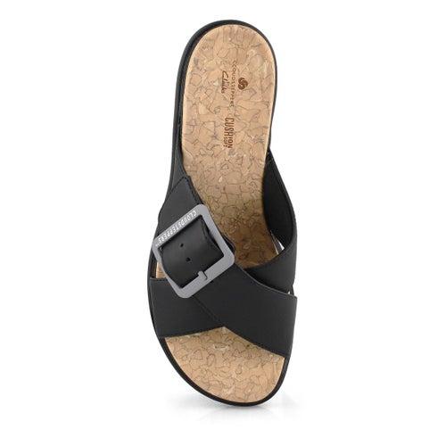 Lds Step June Shell black slip on sandal