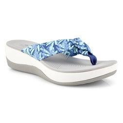 Lds Arla Glison floral blu/mnt wdge sndl