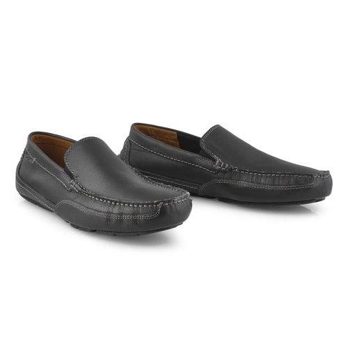 Mns Ashmont Step black dress slip on