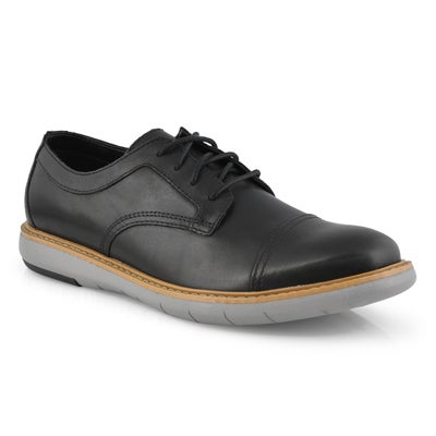 Men's DRAPER CAP black casual oxfords