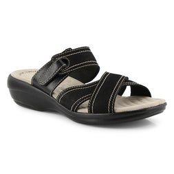 Lds Alexis Art black casual slide sandal