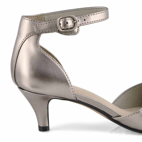 Lds Linvale Edyth pewter dress heel