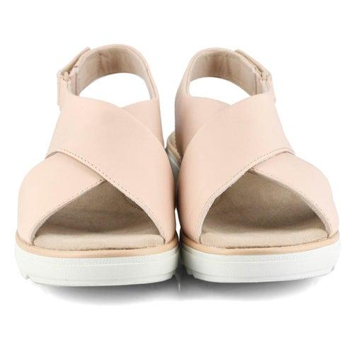 Lds Jillian Jewel blush wedge sandal
