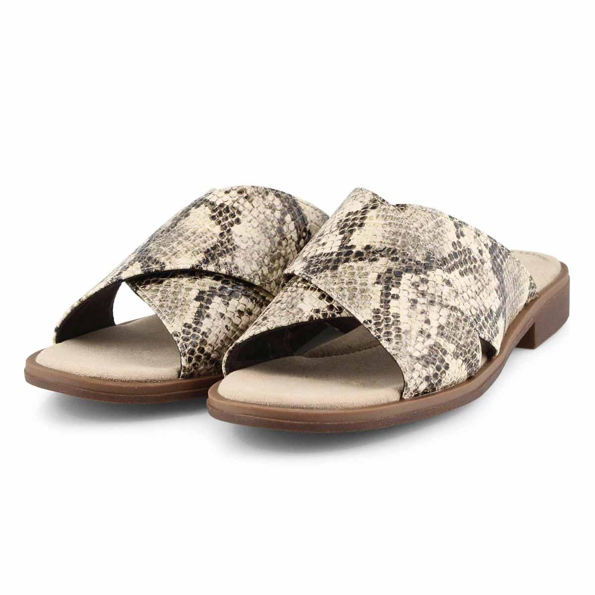 Women's Declan Ivy Slide Sandal - Taupe Snake