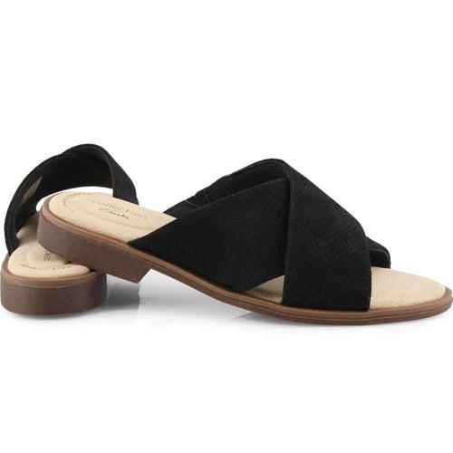 Lds Declan Ivy black slide sandals