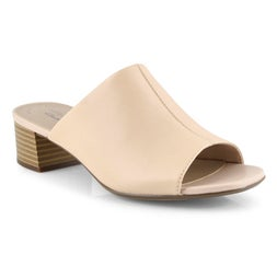 Lds Elisa Rose blush dress slide sandal