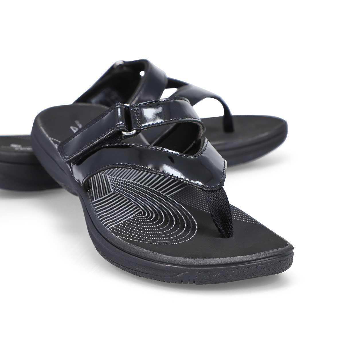 Women's Brinkley Marin Thong Sandal -Black Patent