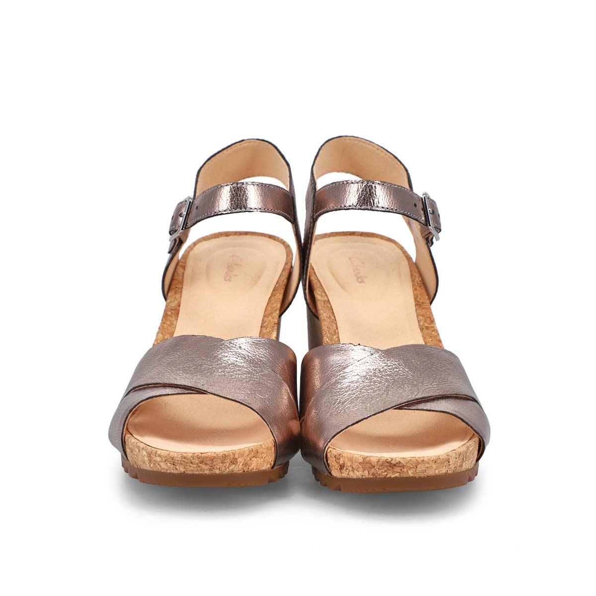 Sandale compensé Flex Sun, pierre,femmes