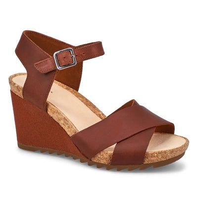 Lds Flex Sun tan wedge sandal