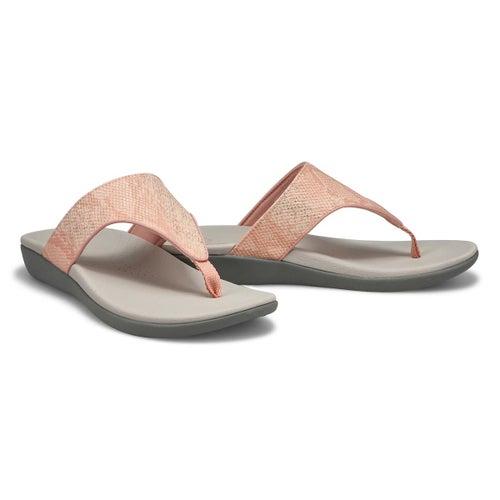 Lds Brio Vibe rse gld snake thong sandal