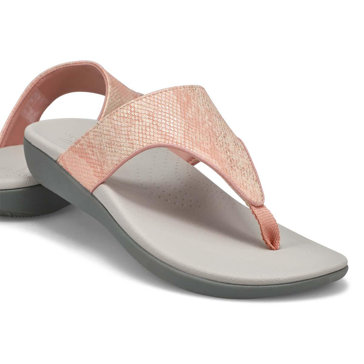 Women's Brio Vibe Thong Sandal - Rose Gold Snake