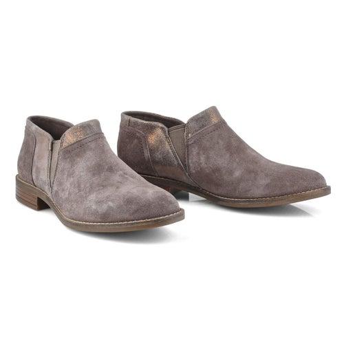 Lds Camzin Mix dark taupe slip on shoe