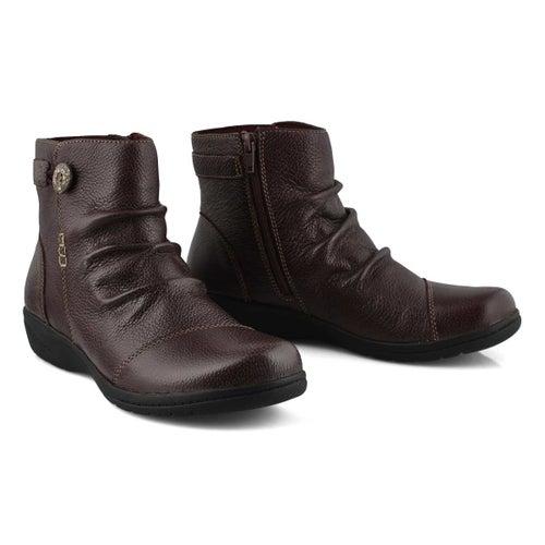 Lds Cheyn Zoe burgundy ankle boot