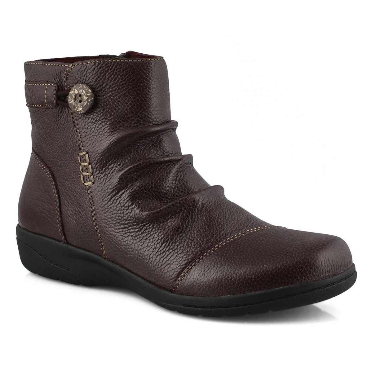 Women's Cheyn Zoe Ankle Boot - Burgandy