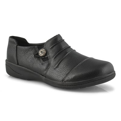 Lds Cheyn Inca black casual slip on-WIDE