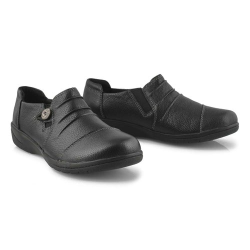 Lds Cheyn Inca black casual slip on-WIDE