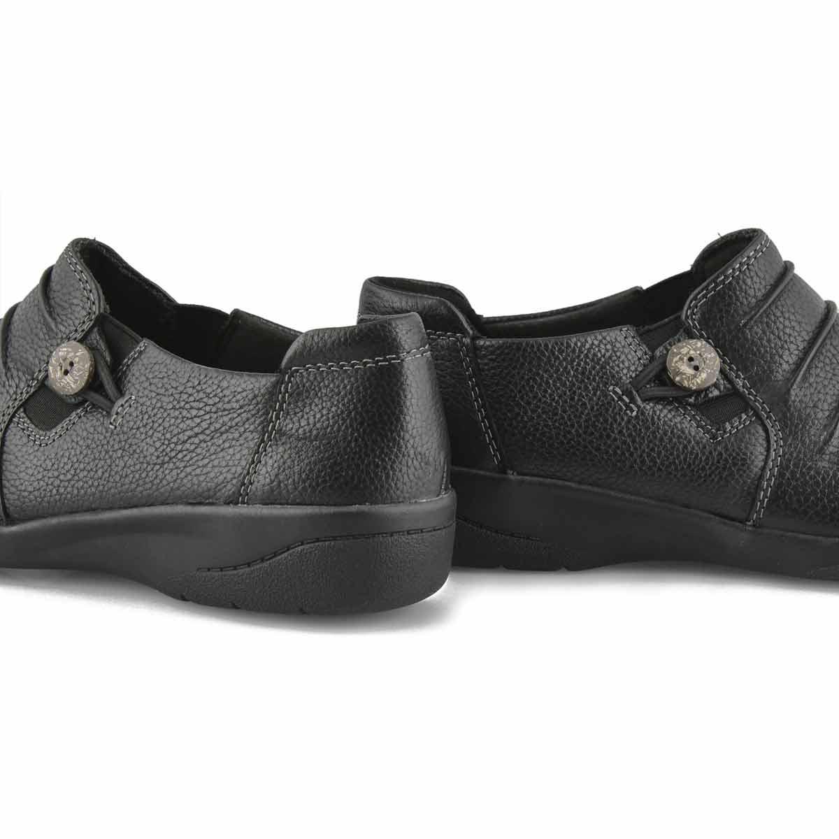 Women's Cheyn Inca Casual Slip On Wide- Black