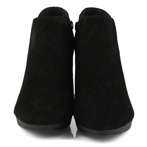 Lds Adirel Lily black suede dress boot