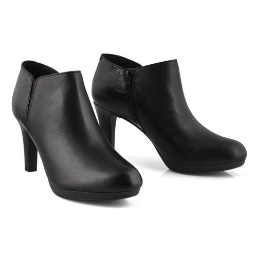 Lds Adirel Lily black leather dress boot