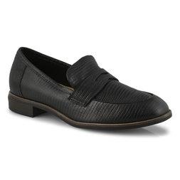 Lds Trish Rose black lizard dress loafer