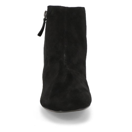 Lds Marilyn Beth black suede ankle boot