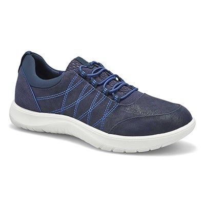 Lds Adella Holly Lace Up Snkr-Wide-Navy