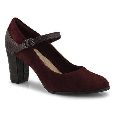 Lds Alayna Shine burgundy dress heel