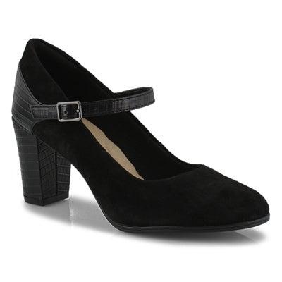 Lds Alayna Shine black dress heel