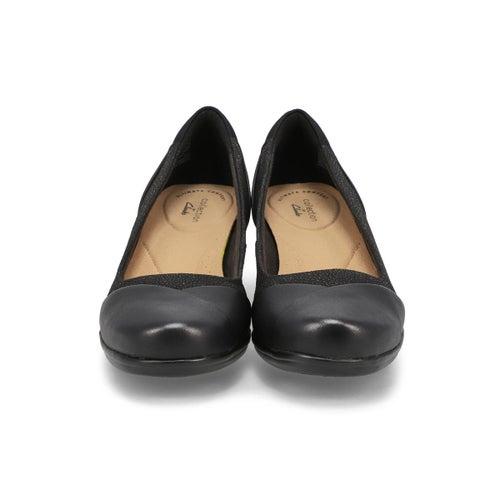 Lds Emily Alexa black dress heel