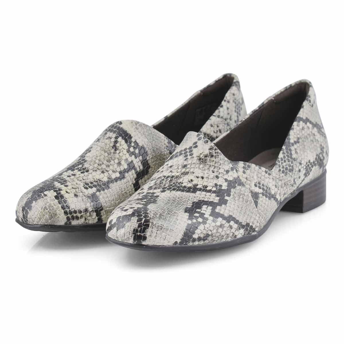 Lds Juliet Palm taupe slipon dress heel