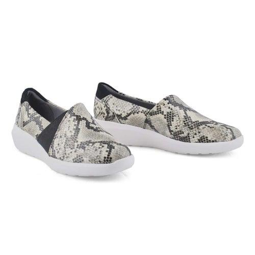 Lds Kayleigh Step taupe snke slipon shoe