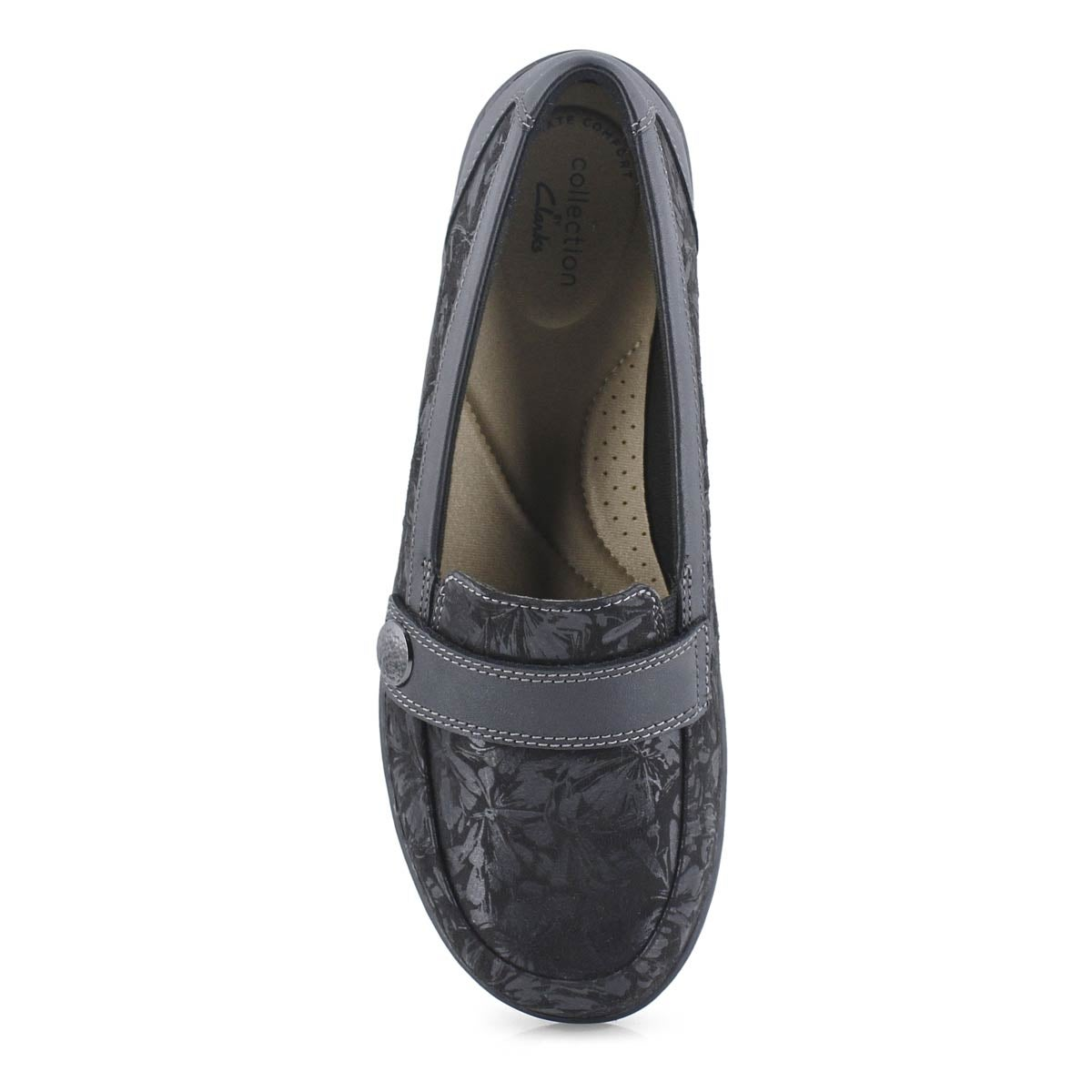 Lds Cora Daisy black casual loafer-wide