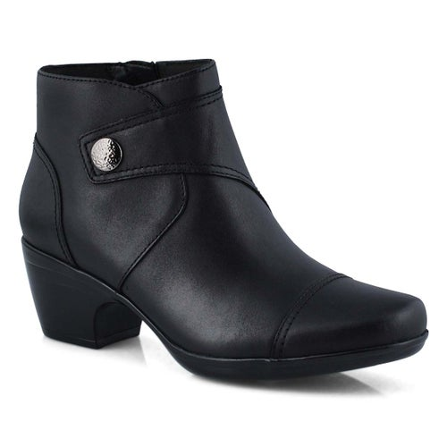 Lds Emily Calle black dress ankle boot