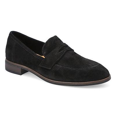 Lds Trish Rose black casual loafer
