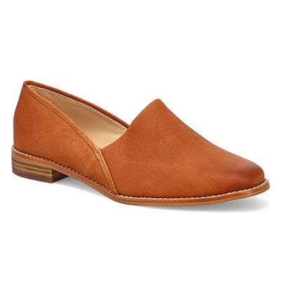 Lds Pure Easy tan dress loafer