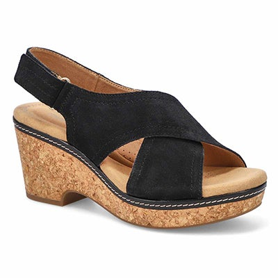 Lds Giselle Cove black wedge sandal