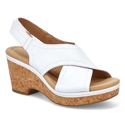 Lds Giselle Cove white wedge sandal
