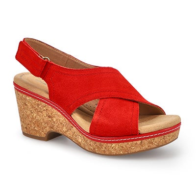 Lds Giselle Cove red wedge sandal