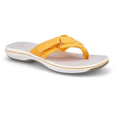 Lds Breeze Sea burnt yellow thong sandal