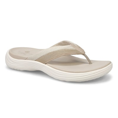 Lds Lola Sand chmpgne mtlc thong sandal