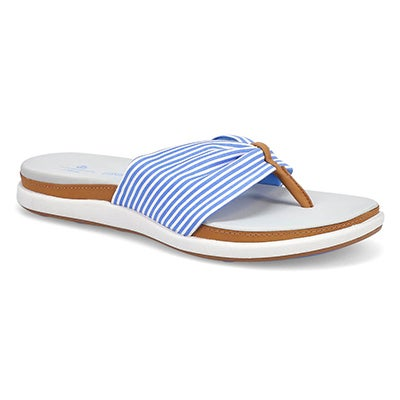 Sandale tong Eliza June bleu/blanc fem.