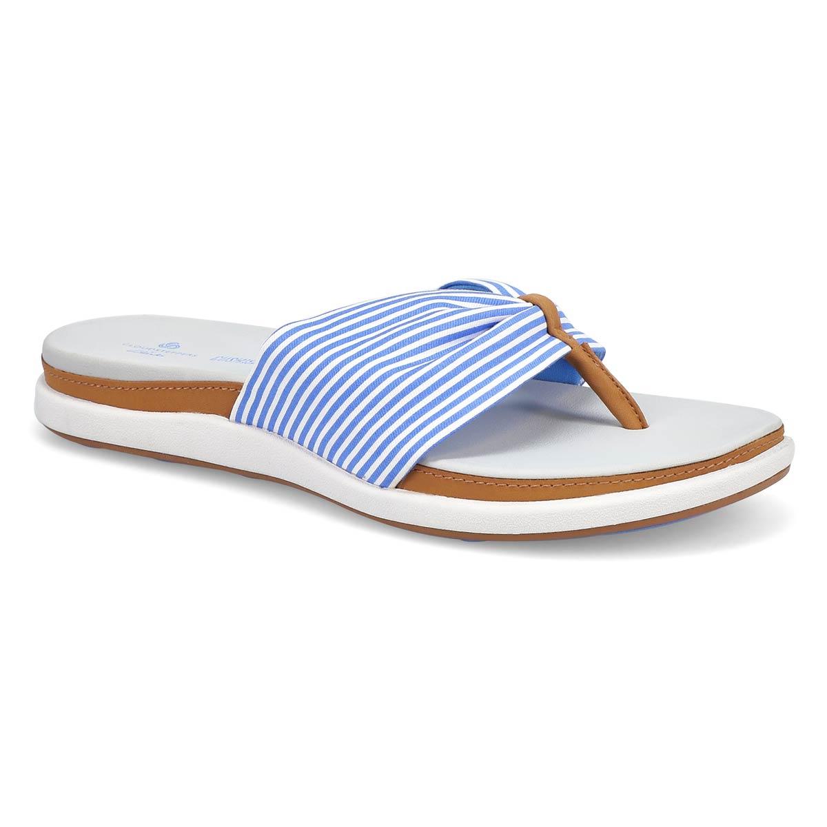 Women's Eliza June Flip Flop - Blue/White