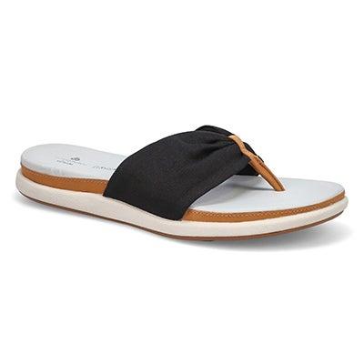 Lds Eliza June black flip flop