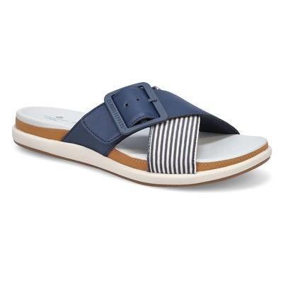 Lds Eliza April nvy casual slide sandal