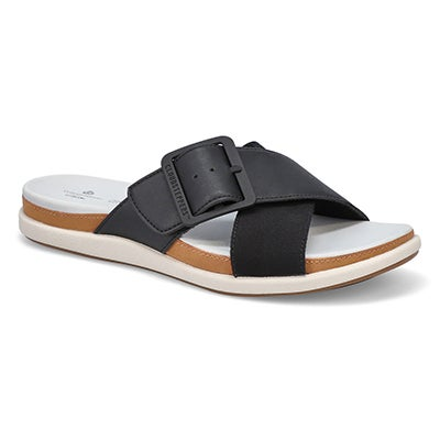 Lds Eliza April blk casual slide sandal