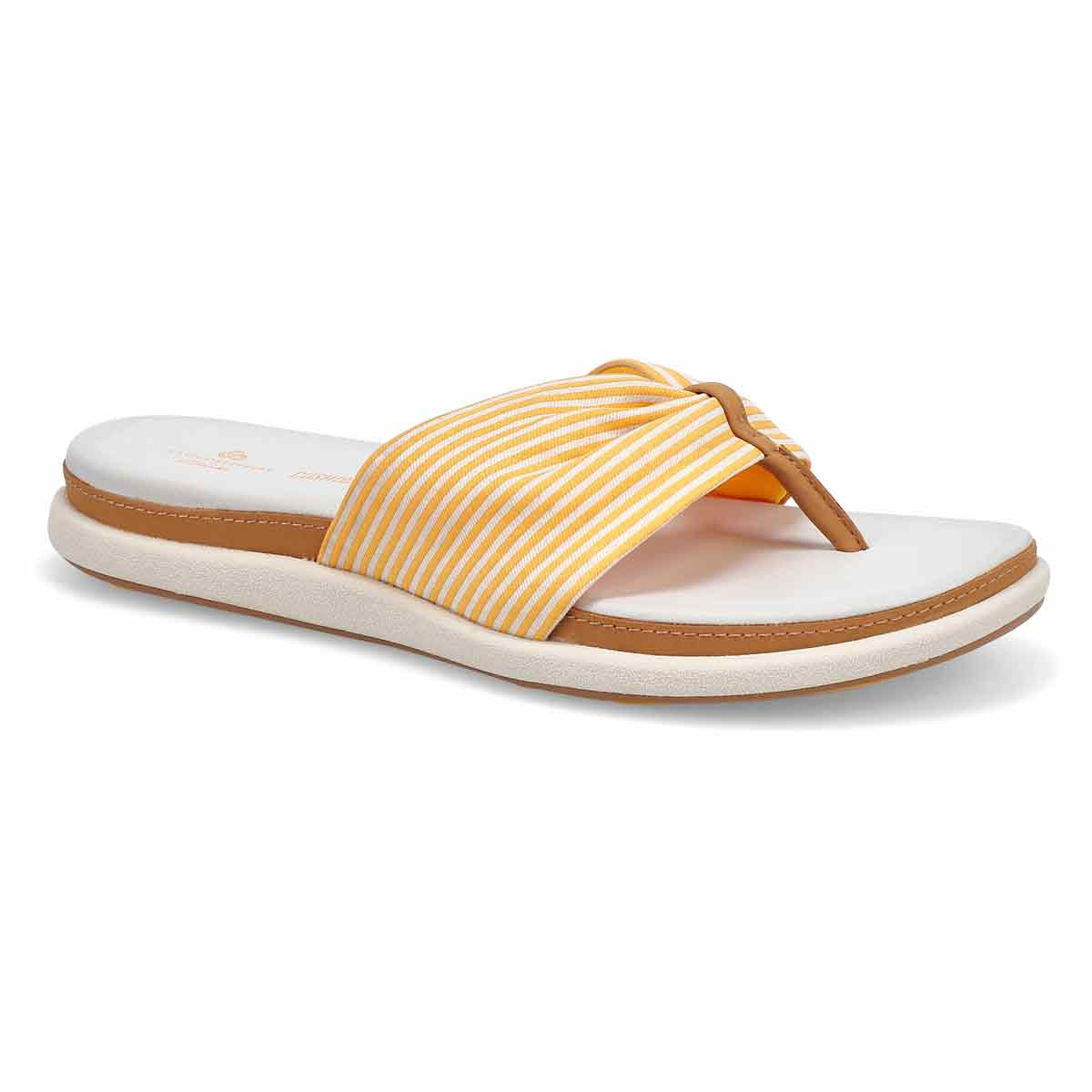 Women's Eliza June Flip Flop-Golden Yellow/Off Wht