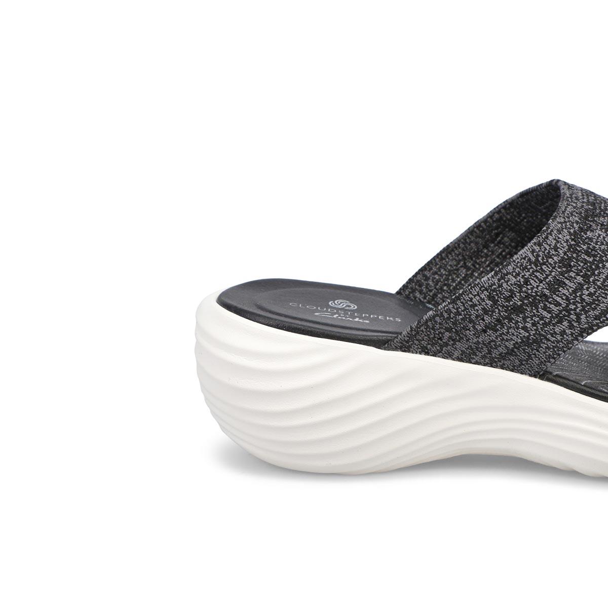 Sandale à talon compensé Marin Coral noir femmes