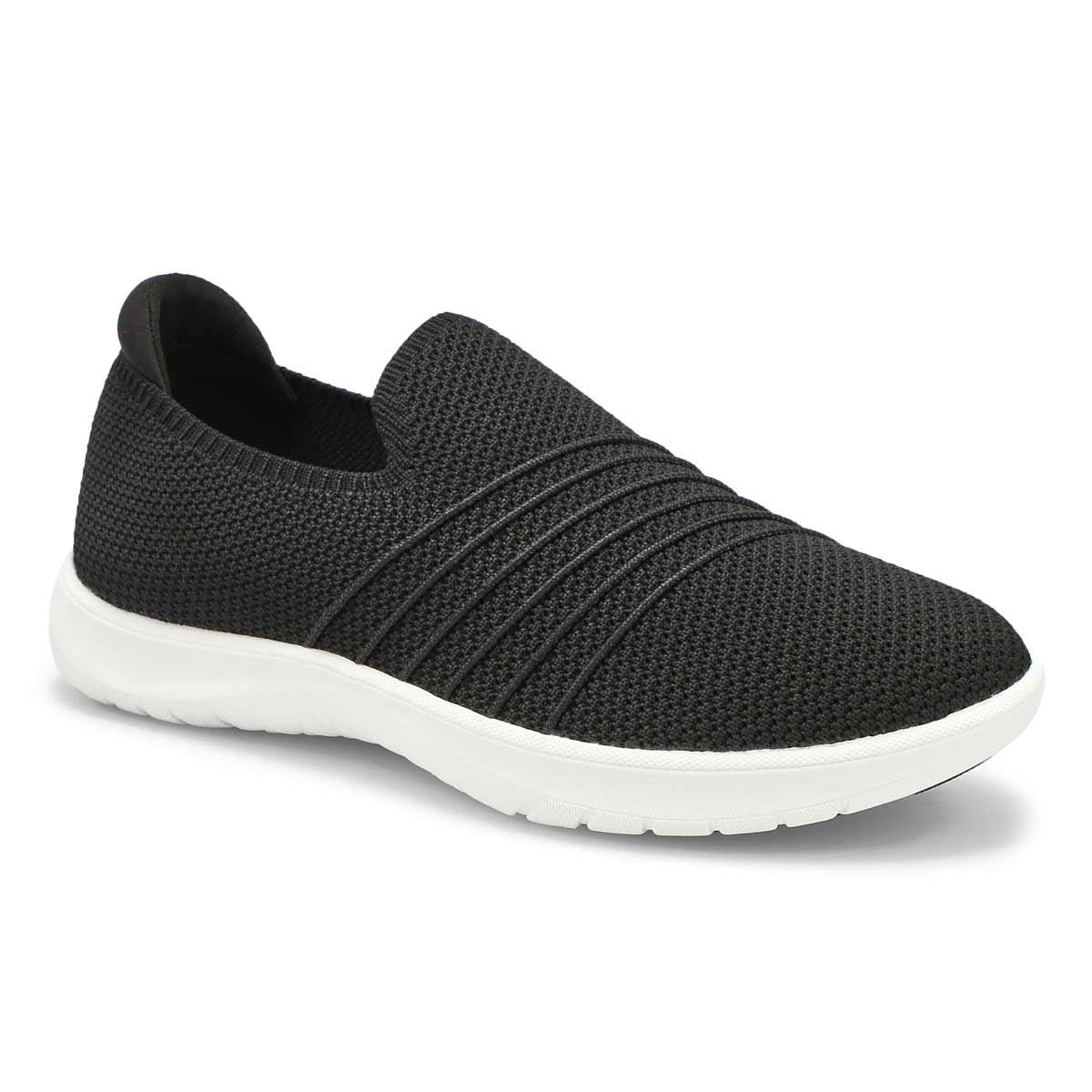 Women's Adella Step Slip On Wide Sneaker - Black