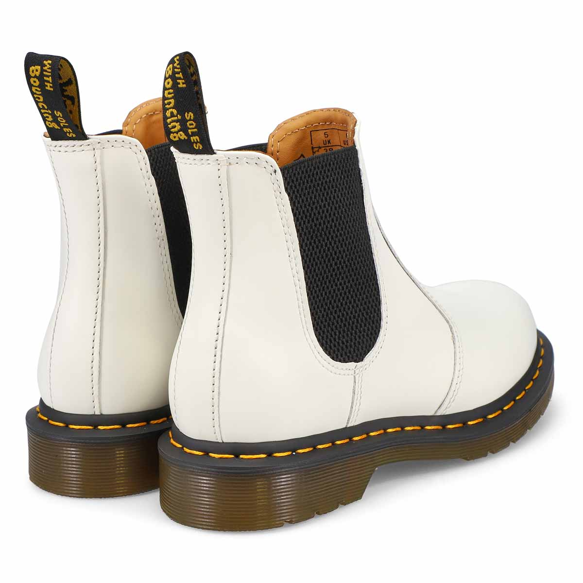 Women's 2976 Yellow Stitch Chelsea Boot - White